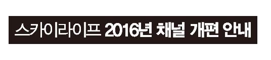2016년 채널 개편 공지 안내 배너