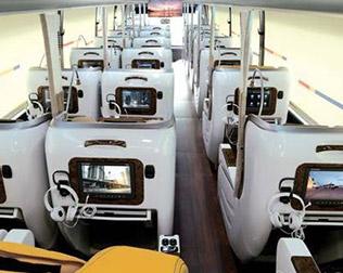 프리미엄버스 차량용 위성방송 서비스 이미지